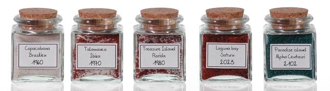 Gew rzgl ser mit kork aus recyclingglas - Glaser dekorieren mit sand ...